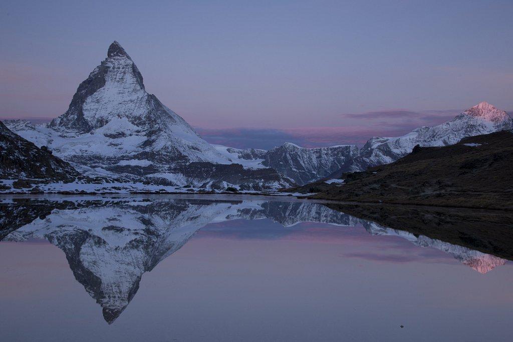 Das erste Licht am Matterhorn
