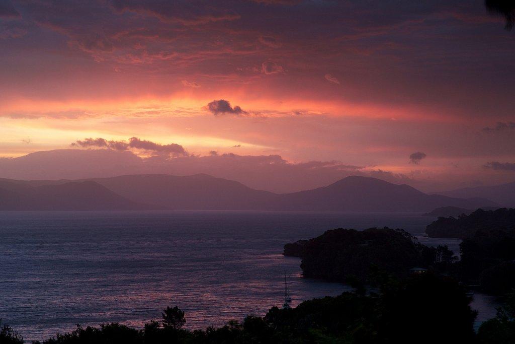 Sonnenuntergang in Halfmoon bay
